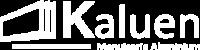 Logo blanc de Kaluen, spécialiste de la menuiserie aluminium à Brest